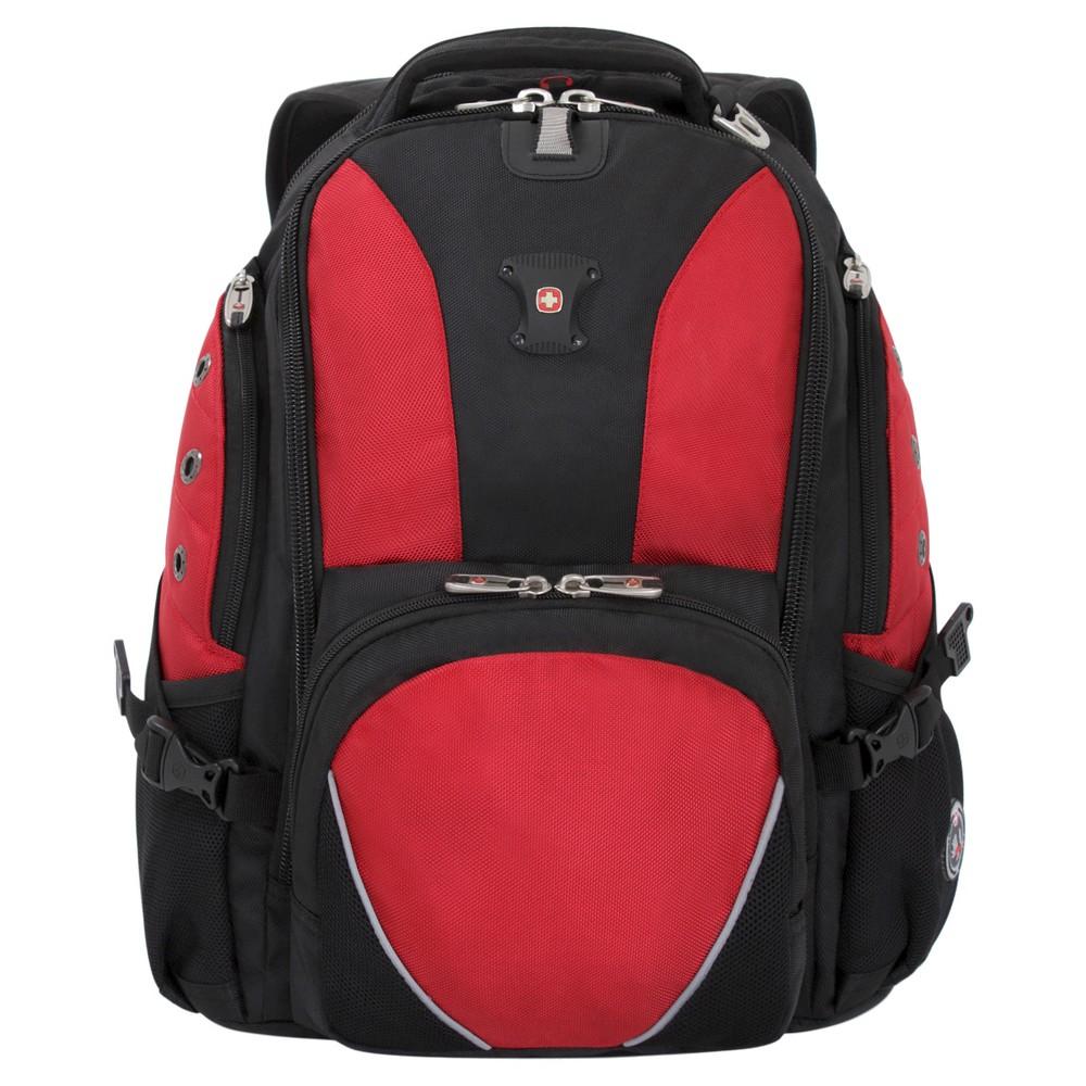 "Image of ""SWISSGEAR 15"""" Backpack - Black/Red, Red Black"""