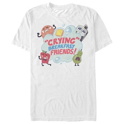 Men's Steven Universe Crying Breakfast Friends T-Shirt