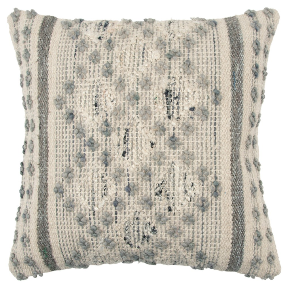 Rizzy Home Geometric Throw Pillow Gray