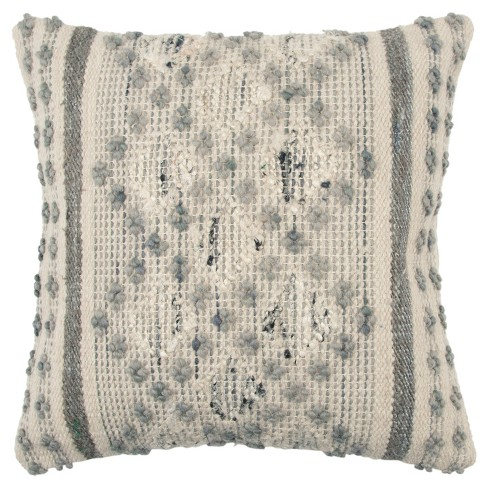 Rizzy Home Geometric Throw Pillow Gray - image 1 of 2
