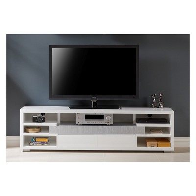 Lavante Contemporary TV Stand Glossy White   HOMES: Inside + Out : Target