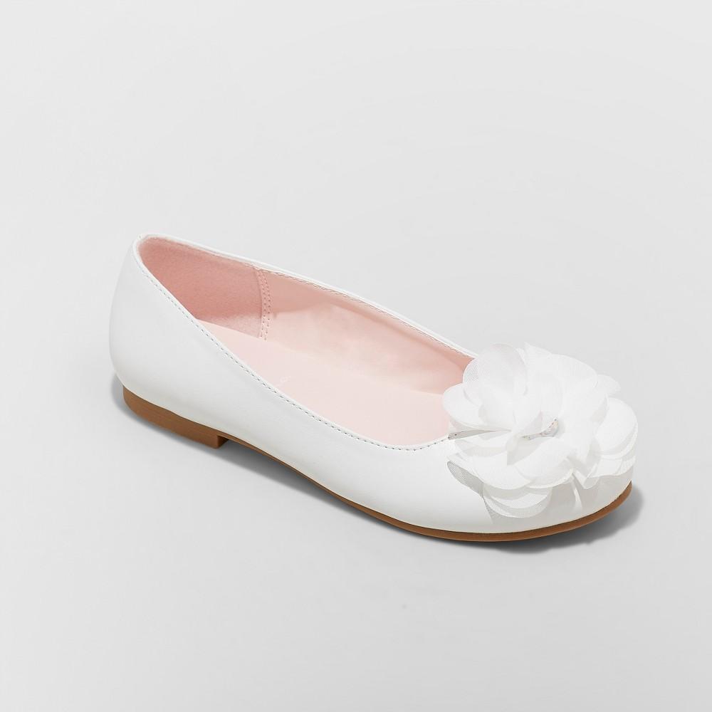 Girls' Flowers by Nina Muriel Dressy Ballet Flats - White 13