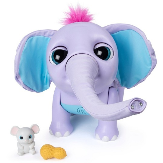Wildluvs - Juno Interactive Baby Elephant with Moving Trunk image number null