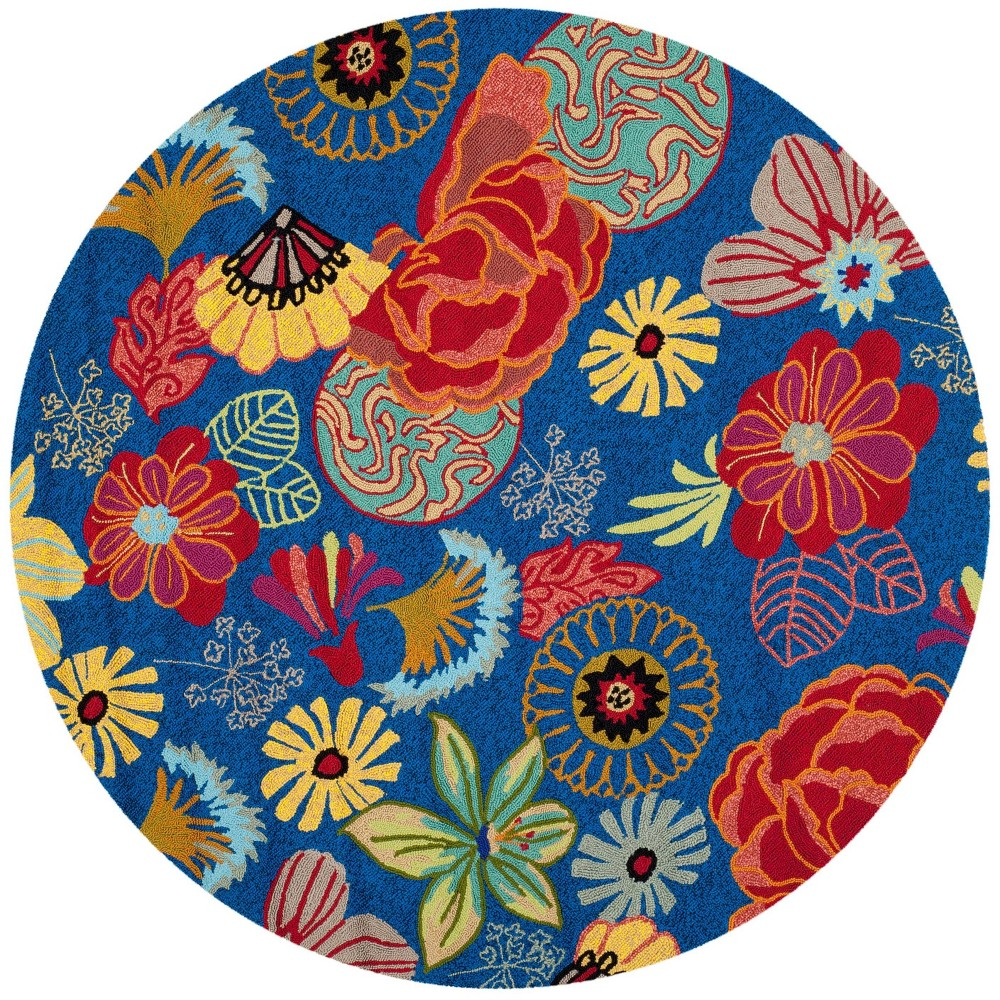 6 Floral Round Area Rug Blue/Red - Safavieh Promos