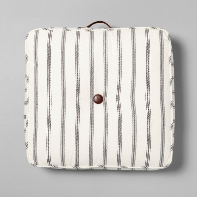 Floor Cushion Stripe Brown / White - Hearth & Hand™ with Magnolia