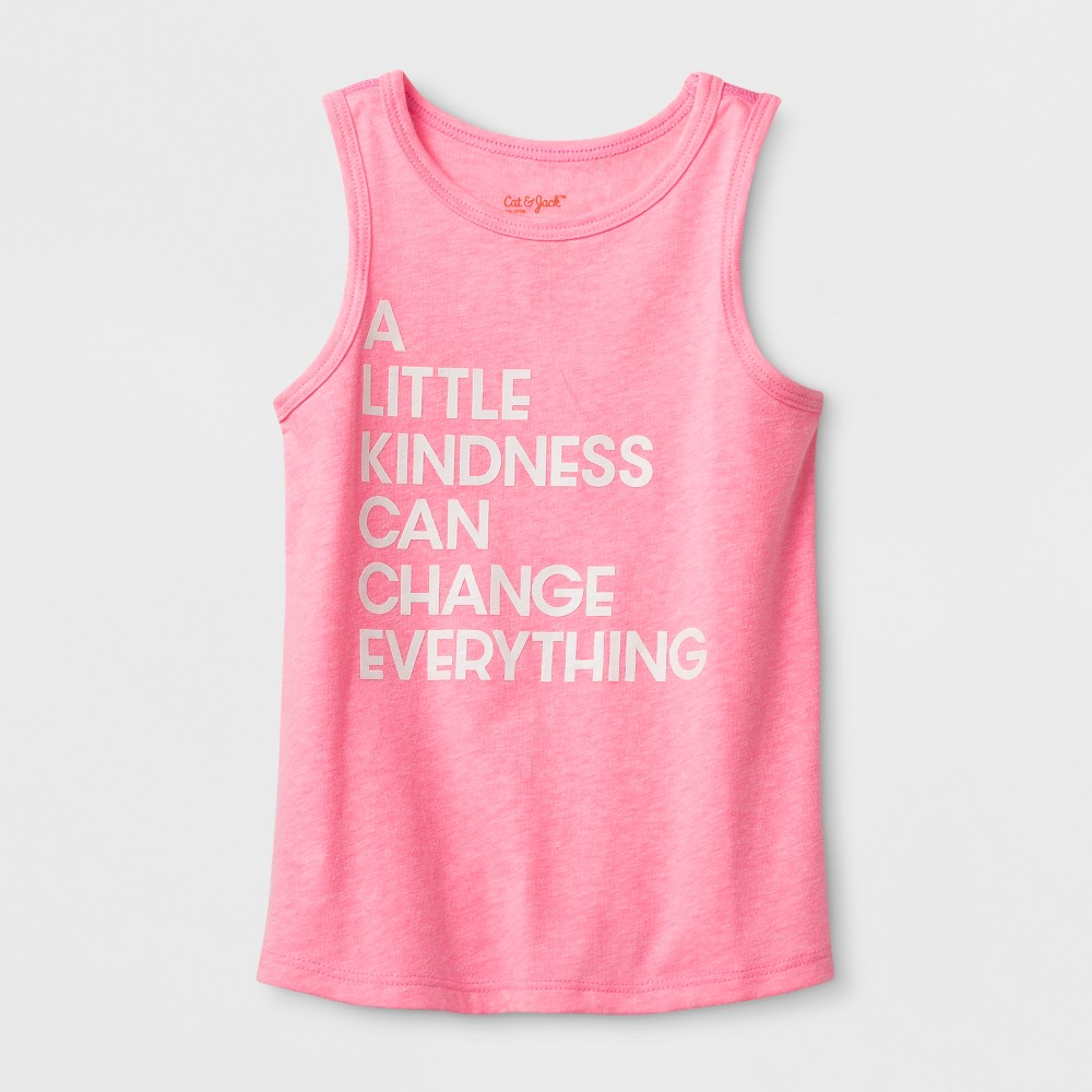 Toddler Girls' Adaptive Kindness Graphic Tank Top - Cat & Jack Pink 2T