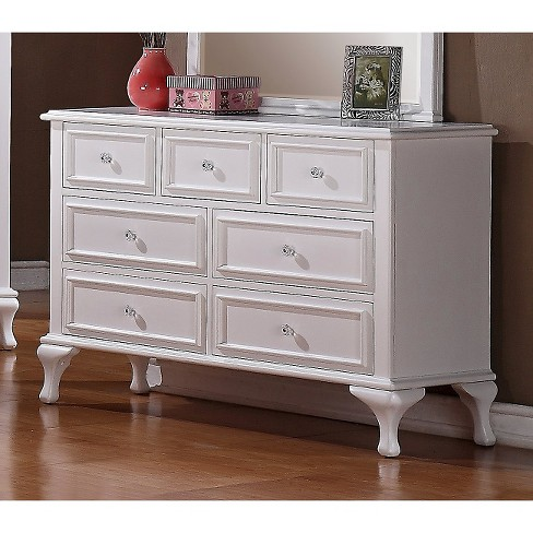 Isabella Youth 7 Drawer Dresser White Picket House Furnishings