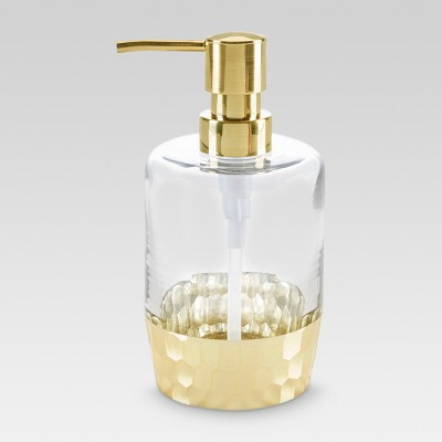 Soap/lotion Dispenser Etched Light Gold - Threshold™