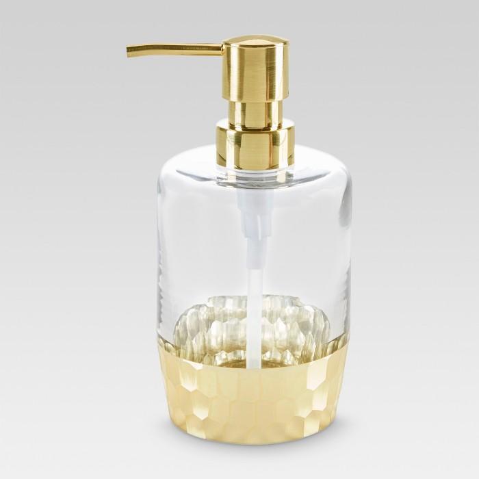 Soap/lotion Dispenser Etched Light Gold - Threshold™ - image 1 of 2