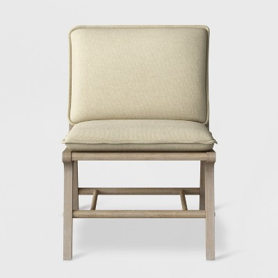 Lincoln Cane Chair with Upholstered Seat Natural - Ships Flat - Threshold™