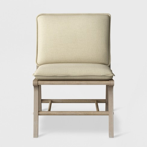 Lincoln Cane Chair with Upholstered Seat Natural - Ships Flat - Threshold™ - image 1 of 6