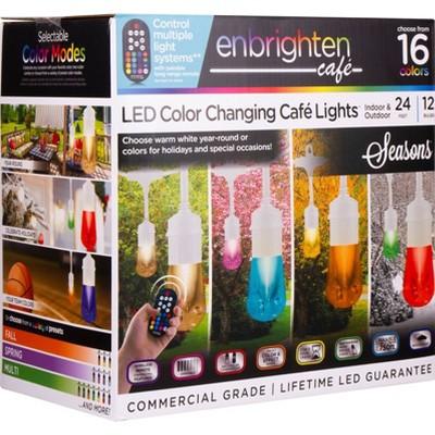 12ct Seasons Vintage LED Café Lights with Acrylic Bulbs White - Enbrighten
