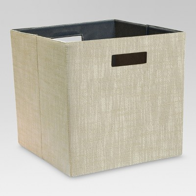 Fashion Cube Storage Bin 13  - Sand Linen - Threshold™