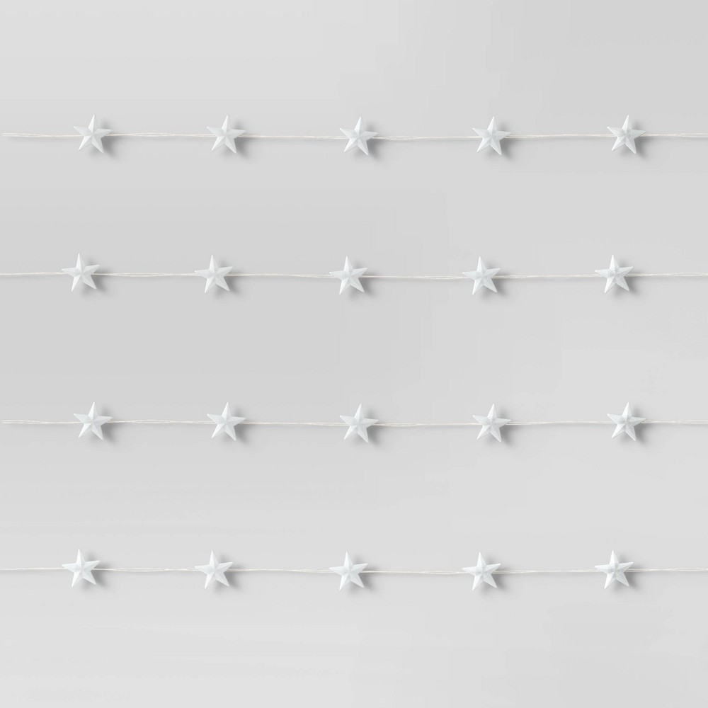 Image of Frosted Star LED Fairy Lights White - Room Essentials