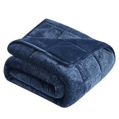 """10lbs 50""""x60"""" Machine Washable Shiny Velvet Weighted Throw Blanket - Dream Theory"""