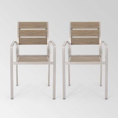 Cape Coral 2pk Aluminum Dining Chair - Christopher Knight Home