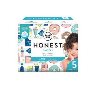 The Honest Company Donut Grow Up & Honest Drive-In Disposable Diapers - Size 5 - 50ct