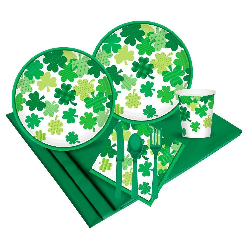 St. Patrick's Day Blooming Shamrocks Party Pack, Green