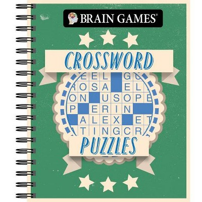 Brain Games - Crossword Puzzles (a Brainy and Intellectual Challenge) - (Spiral Bound)