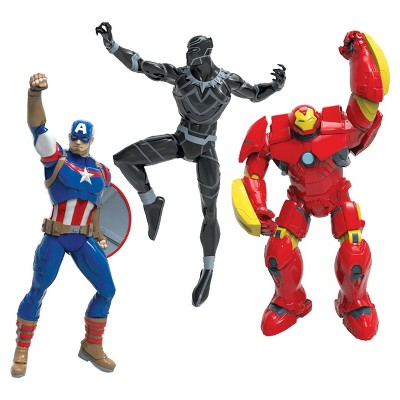 Swimways Marvel Avengers Dive Characters - Captain America, Black Panther & Hulk Buster