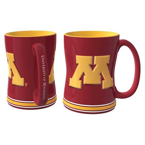 Minnesota Gophers Boelter Brands 2 Pack Sculpted Relief Style Coffee Mug - Red (15 oz) - image 1 of 1