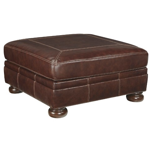 Banner Oversized Accent Ottoman Coffee - Signature Design by Ashley - image 1 of 4