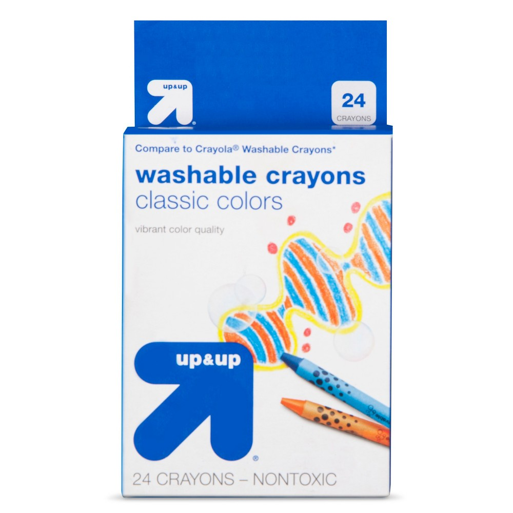 Crayons Washable 24ct (Compare to Crayola Crayons) - Up&Up