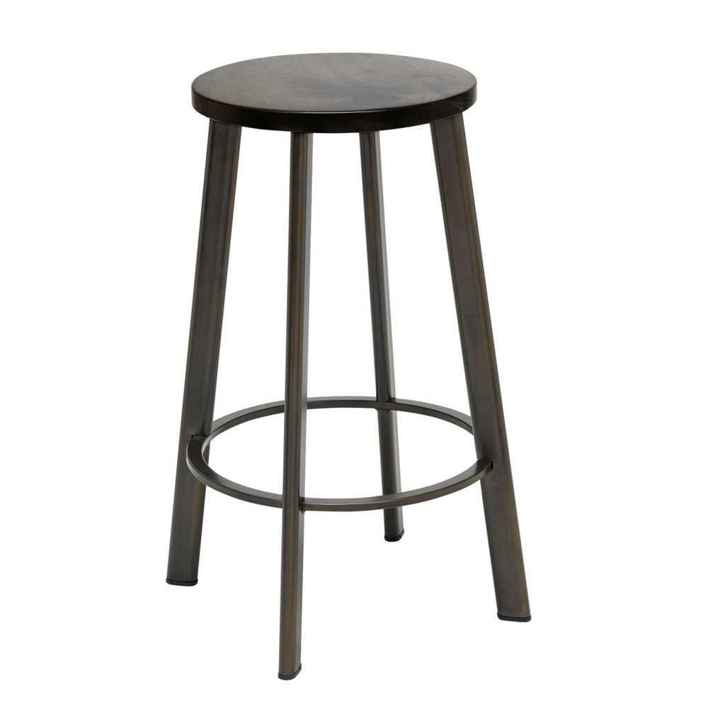"Image of ""18"""" Metro Height Stool Barnwood Brown - KFI Seating"""