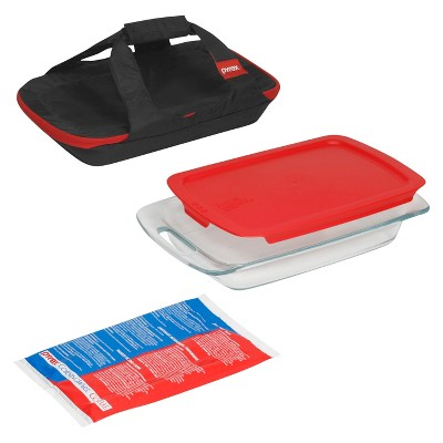 Pyrex 4pc Portable Bakeware Set Glass