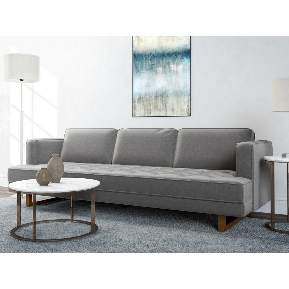 Pearl ModernTufted Sofa Charcoal (Grey) Gray - AF Lifestlye