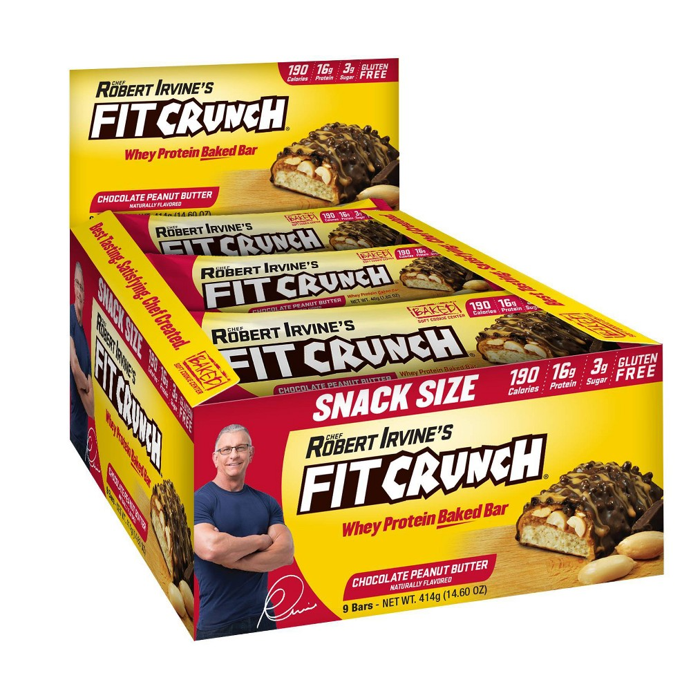 Fitcrunch Chocolate Peanut Butter Snack Bar 9ct
