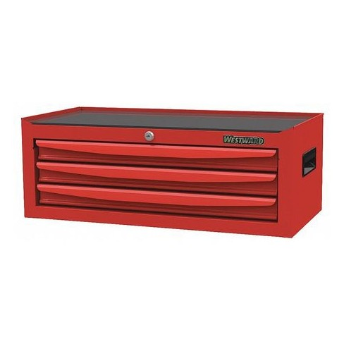 "WESTWARD 48RJ72 26-3/8""W Intermediate Chest 3 Drawers, Red, 12-1/2""D x 9-5/8""H - image 1 of 1"