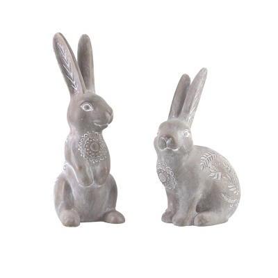 Gallerie II Etched Stone Easter Rabbit Figure, A/2