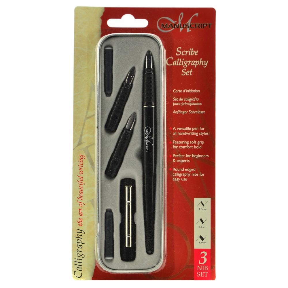 Image of Scribe Series Calligraphy Pen Set 3 Nib - Manuscript 6ct