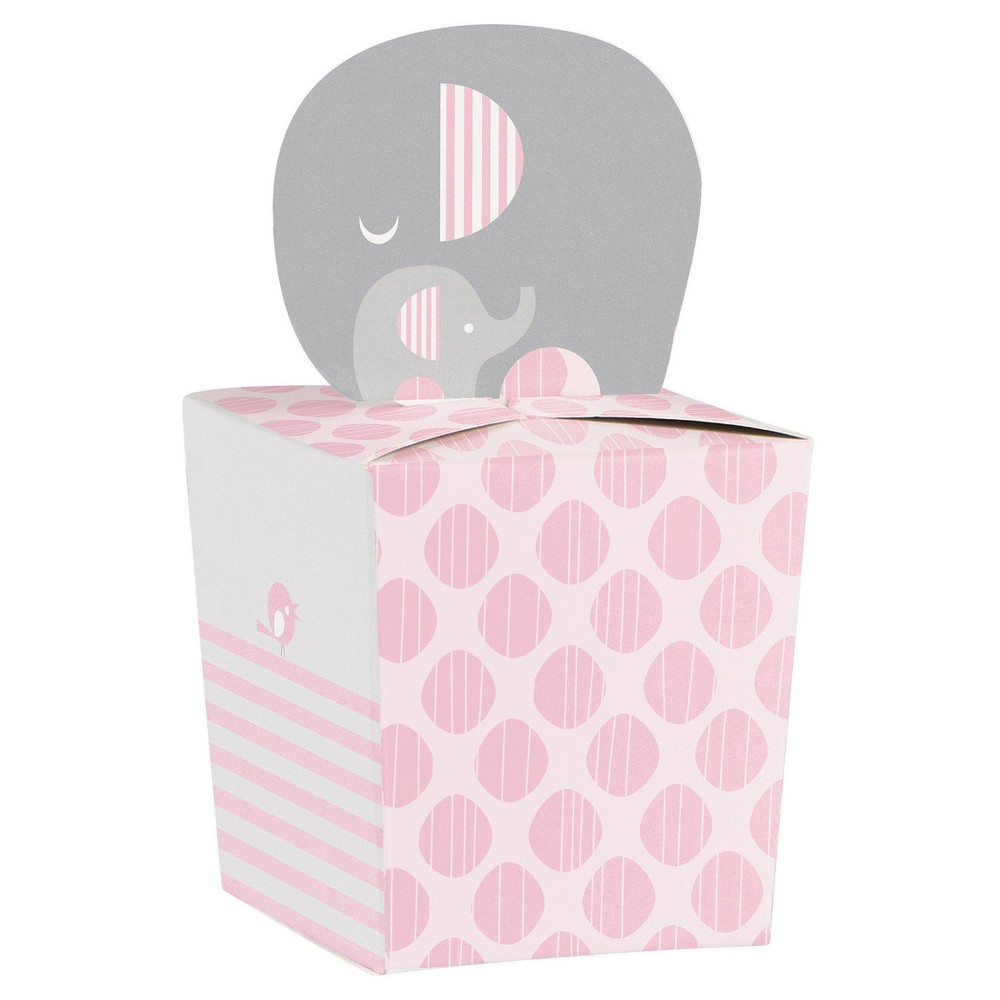 8ct Little Peanut Girl Elephant Favor Boxes