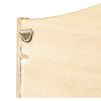 Wooden Wall Mounted Mail Organizer with Key Hooks (3 Tier)