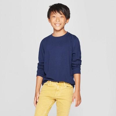Boys' Long Sleeve T-Shirt - Cat & Jack™ Navy S
