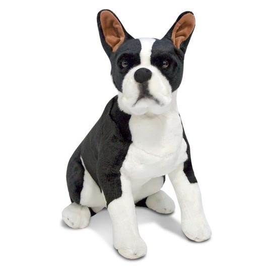 Melissa & Doug Giant Boston Terrier - Lifelike Stuffed Animal Dog image number null