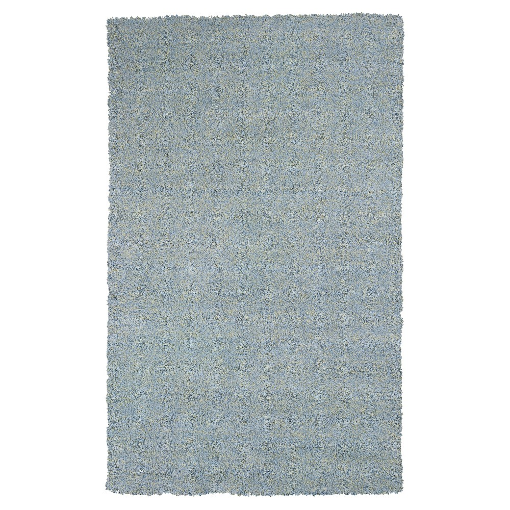 Blue Solid Woven Area Rug 8'x11' - Kas Rugs