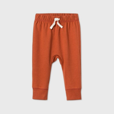 Baby Boys' Jogger Pull-On Pants - Cat & Jack™ Orange 12M