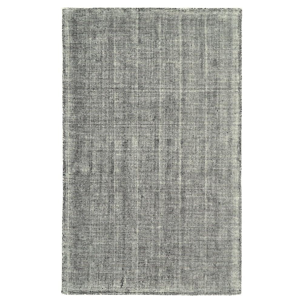 Black/Gray Solid Woven Area Rug - (5'X8') - Room Envy, Black/Grey