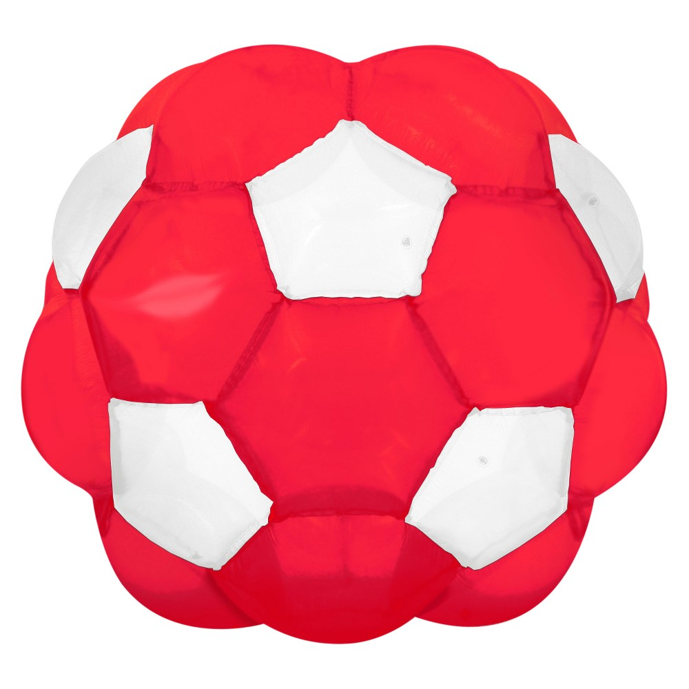 Kenscott Giga Ball, Red, Toy Balls If your kids are bouncing off the walls, make sure they do it safely with the Kenscott Giga Ball. This enormous, inflatable ball Is made of heavy-gauge vinyl with a thick pillow of air to cushion kids as they roll, crawl, spin, and tumble-indoors or out. This sturdy and durable ball is an excellent way to get kids away from TV and electronics. Ages 4 and up. Color: Red. Gender: Unisex.