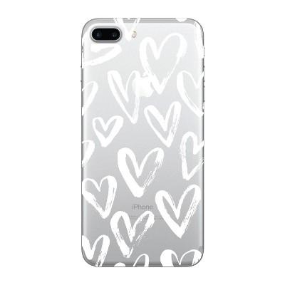 OTM Essentials Apple iPhone 8 Plus/7 Plus/6s Plus/6 Plus Clear Case - White Hearts