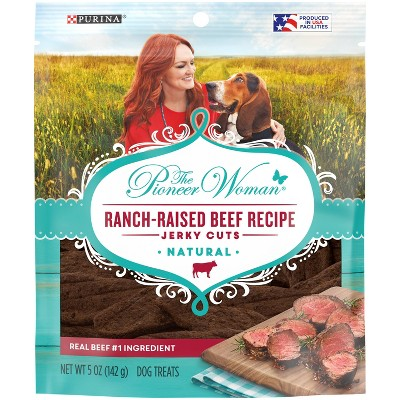 Purina Pioneer Woman Ranch Life Recipe Ranch-Raised Beef Jerky Cuts Dog Treats - 5oz
