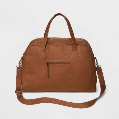 Zip Closure Weekender Bag - Universal Thread™ Cognac