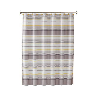 Spring Garden Fabric Shower Curtain Light Gray - Saturday Knight Ltd.