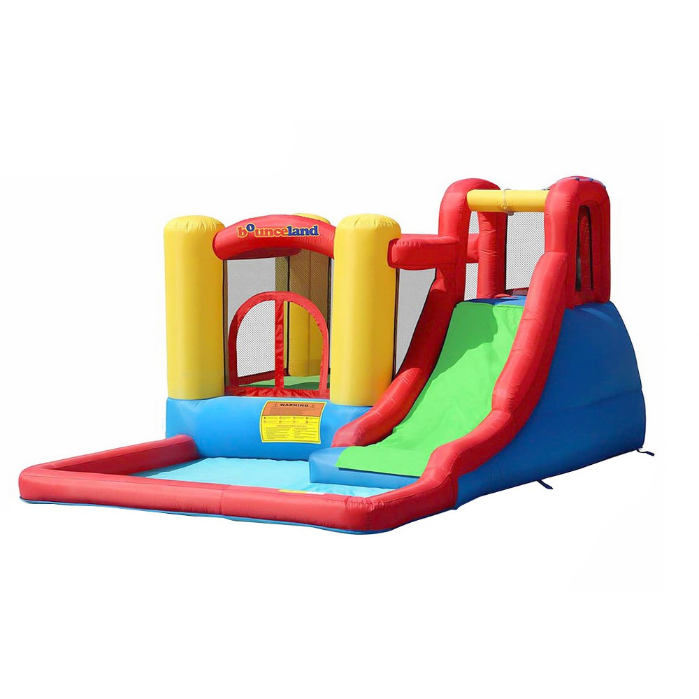 Bounceland Jump and Splash Adventure Bounce House with Water Slide, Multi-Colored