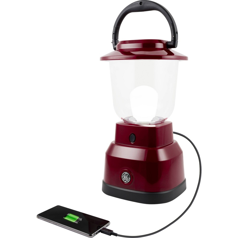 "Image of ""6D 11.2"""" LED Outdoor Lantern With USB Charging - Red - Enbrighten"""