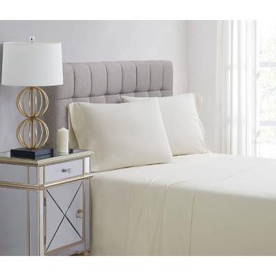 Standard 400 Thread Count Solid Percale Pillowcase Set Vanilla - Charisma