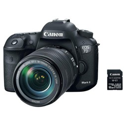 Canon EOS 7D Mark II Digital SLR Camera with EF-S 18-135mm IS USM Lens & W-E1 Wi-Fi Adaper Kit